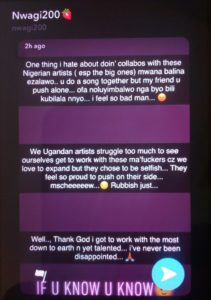 """""""Collaborating With Nigerian Artists Is So Stressful!"""" Winnie Nwagi Opens Up."""